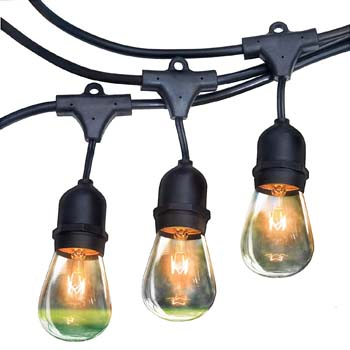 9: RZSAIDA Light Outdoor String Lights 48 ft. Thick Bulb