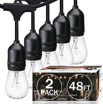 3: SUNTHIN Pack of 2 48ft String of Lights