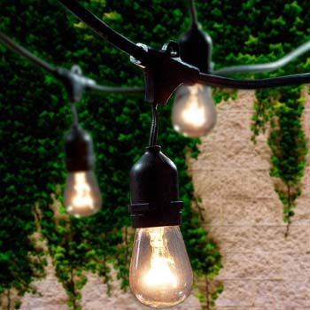 5: Lemontec Commercial Grade Outdoor String Lights