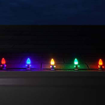 6: Wintergreen Lighting Opticore LED Smooth/Opaque Multicolor Commercial C7 Christmas Lights