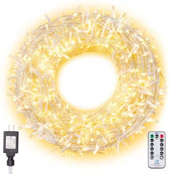 3: Ollny Christmas Lights 800 LEDs 330ft LED Outdoor String Lights Warm White