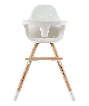 5: Asunflower Wooden High Chair for Baby Swivel Modern Highchair