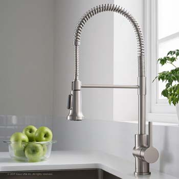 8. Kraus Britt Spot Free Stainless Pre-Rinse/Commercial Kitchen Faucet