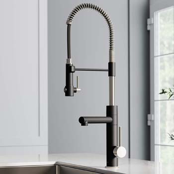 1. KRAUS KPF-1603SFSMB New Artec Pro 2-Function Commercial Style Pre-Rinse Kitchen Faucet