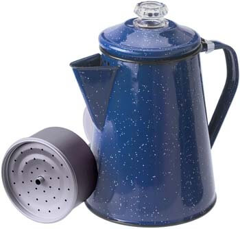 2. GSI Outdoors 8 Cup Enamelware Percolator for Coffee at Home or Campsite