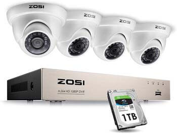 6. ZOSI 1080P Security Cameras System 8 Channel FULL TRUE 1080P HD-TVI DVR Recorder