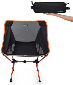 6. Sunyear Lightweight Compact Folding Camping Backpack Chairs