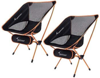 1. Sportneer Camping Chairs, Portable Ultralight Folding Camp Chair