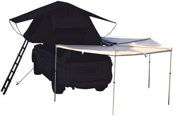 5. Hasika All-Weather Car Batwing Awning Side Rooftop Tent Sun Shelter