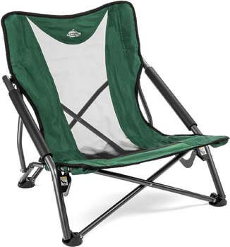 9. Cascade Mountain Tech Compact Low Profile Outdoor Folding Camp Chair with carrying Case
