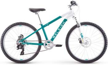 9. RALEIGH Bikes Eva 24 Kids Hardtail Mountain Bike for Girls Youth 8-12 Years Old, Teal