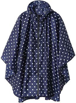 8. Rain Poncho Jacket Coat Hooded for Adults with Pockets
