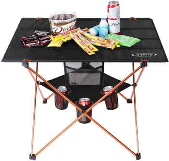9. G4Free Ultralight Folding Camping Table Portable Compact Roll Up Camp Tables