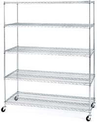 8. Seville Classics UltraDurable MEGA Rack Commercial-Grade 5-Tier NSF-Certified