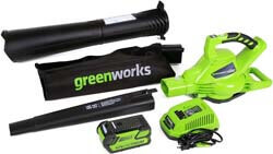 6. Greenworks 40V 185 MPH Variable Speed Cordless Leaf Blower/Vacuum