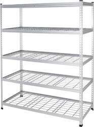 4. AmazonBasics Heavy Duty Storage Shelving Double Post Steel Wire Shelf